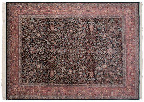 9×12 Kashan Black Oriental Rug 021090