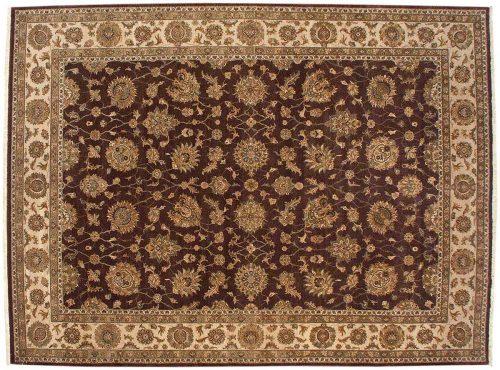 9×12 Kashan Brown Oriental Rug 042560