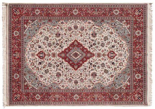 9×12 Kashan Ivory Oriental Rug 023564