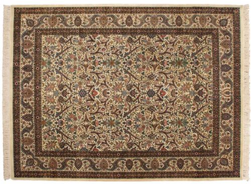 9×12 Kashan Ivory Oriental Rug 031885