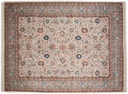 9×12 Kashan Ivory Oriental Rug 033805
