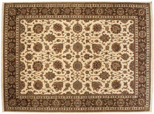 9×12 Kashan Ivory Oriental Rug 042600