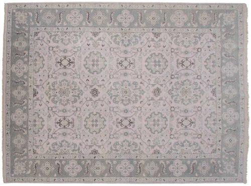 9×12 Kashan Ivory Oriental Rug 047615