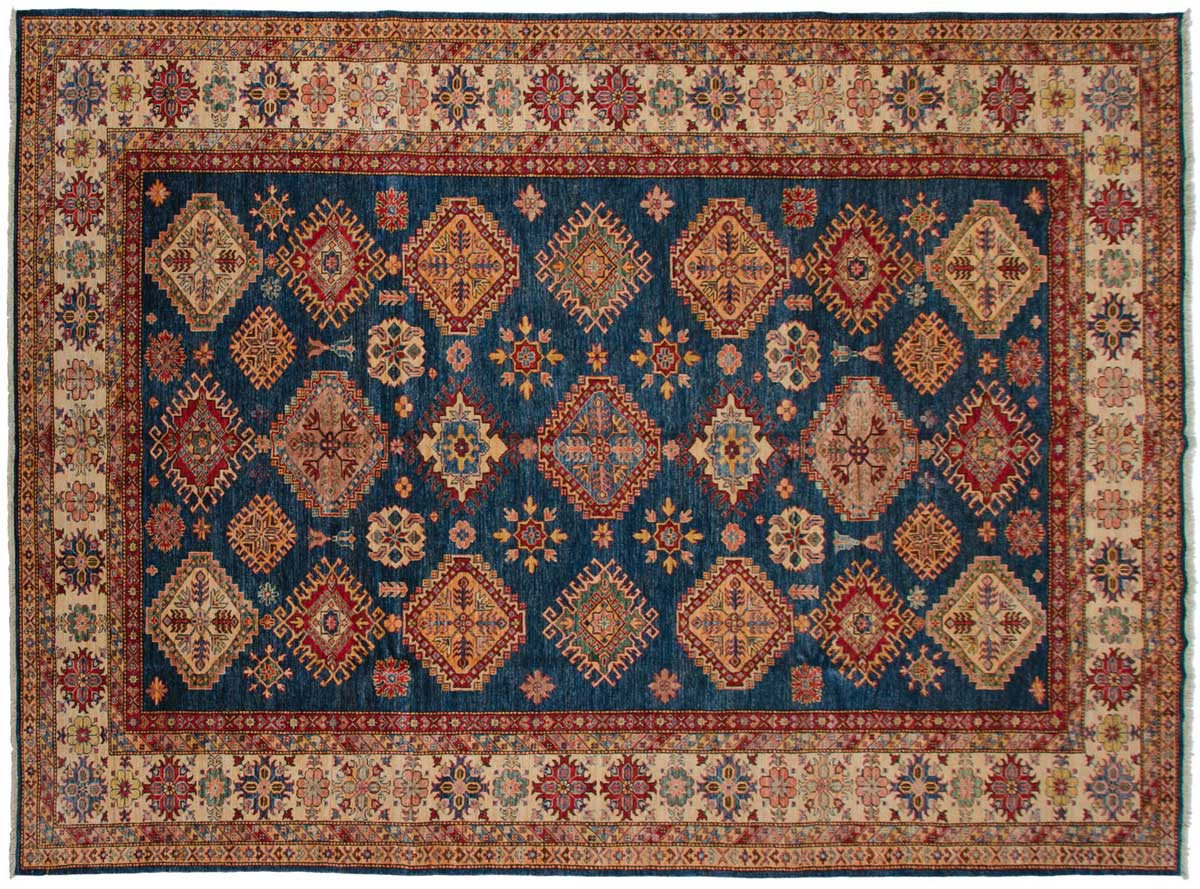 9x12 Kazak Blue Oriental Rug 045732