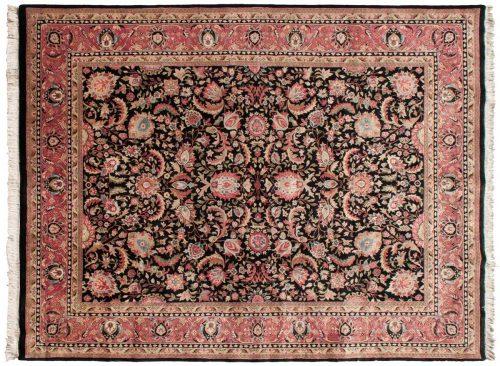 9×12 Kerman Black Oriental Rug 016763