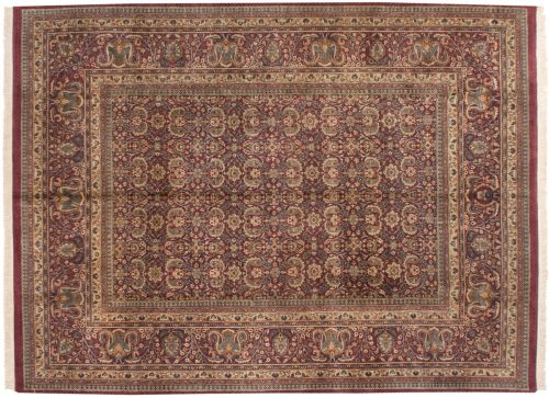 9×12 Kerman Burgundy Oriental Rug 039038
