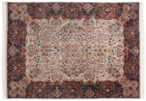 9×12 Kerman Ivory Oriental Rug 024795