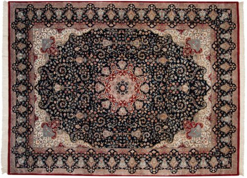 9×12 Mashad Blue Oriental Rug 015892