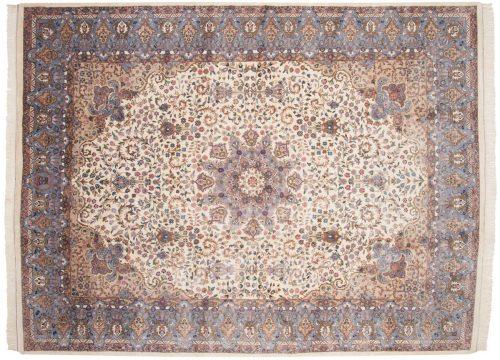 9×12 Mashad Ivory Oriental Rug 015946