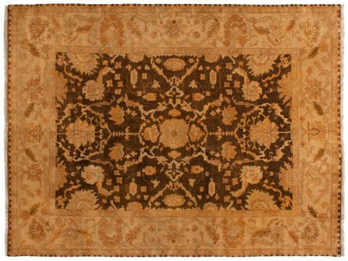 9×12 Oushak Brown Oriental Rug 042363