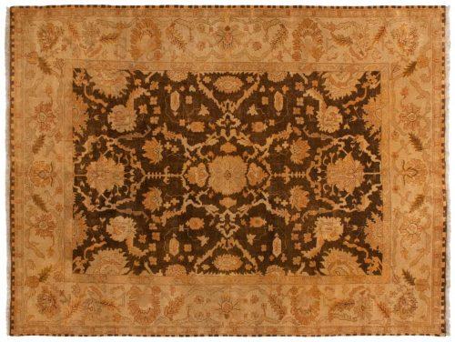 9×12 Oushak Brown Oriental Rug 042363