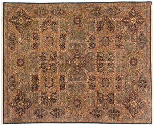 9×12 Panel Multi Color Oriental Rug 014381