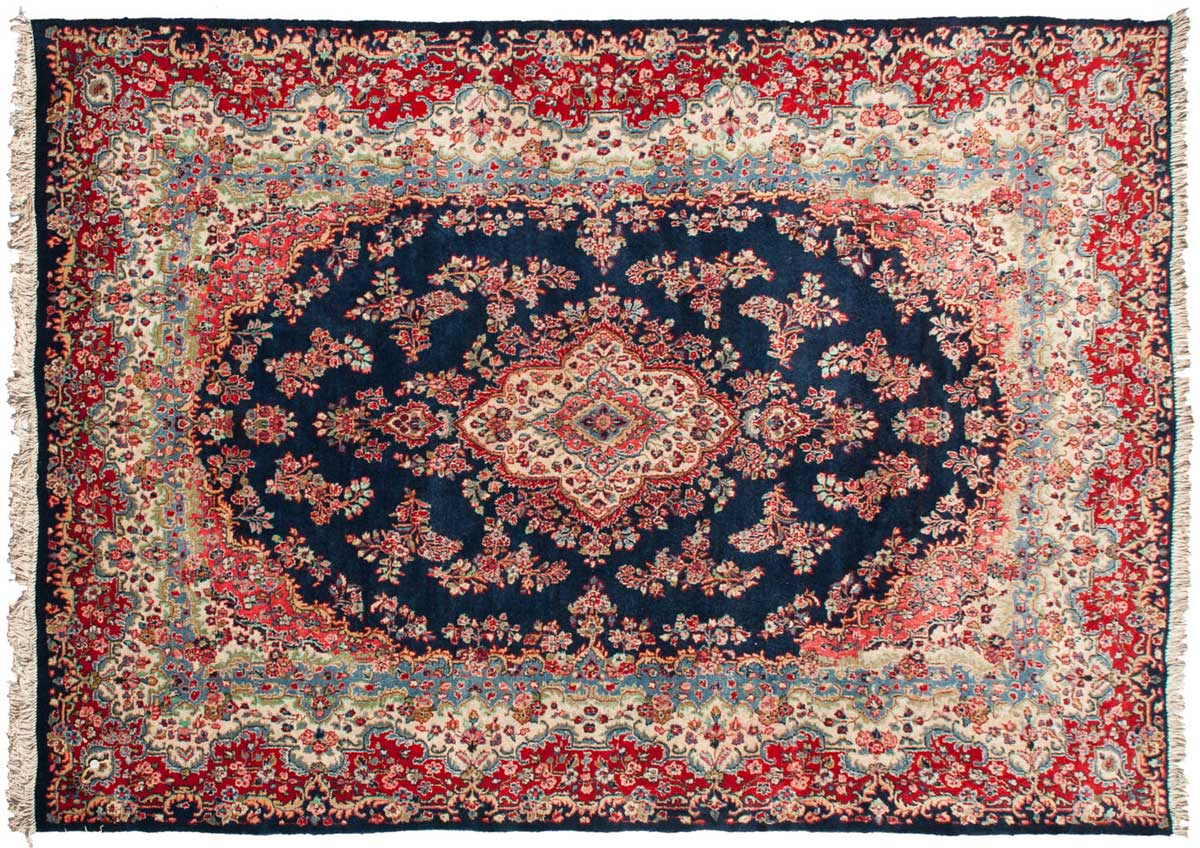 9 12 Persian Hamadan Blue Oriental Rug 022971 Carpets By Dilmaghani