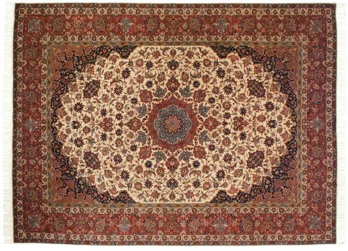 9×12 Isfahan Ivory Oriental Rug 021705
