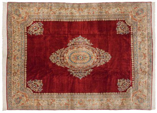 9×12 Persian Kerman Red Oriental Rug 012328
