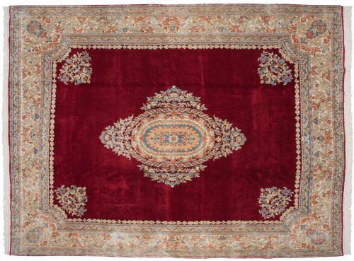 9×12 Persian Kerman Red Oriental Rug 012330