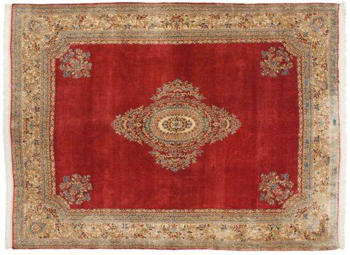 9×12 Persian Kerman Rose Oriental Rug 012327