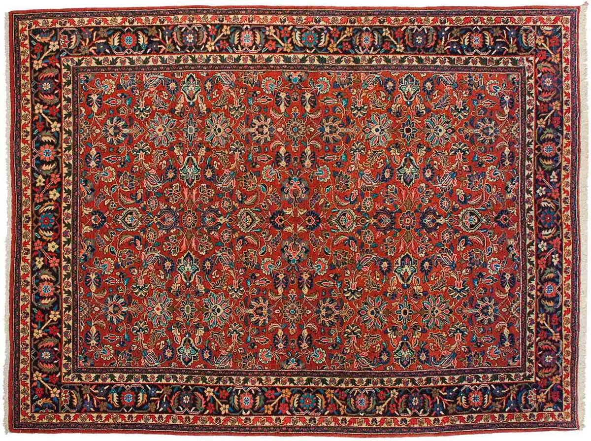 9x12 Persian Mahal Red Oriental Rug 020196