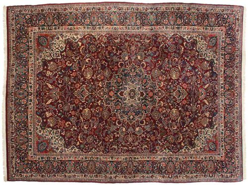 9×12 Persian Meshed Red Oriental Rug 014048