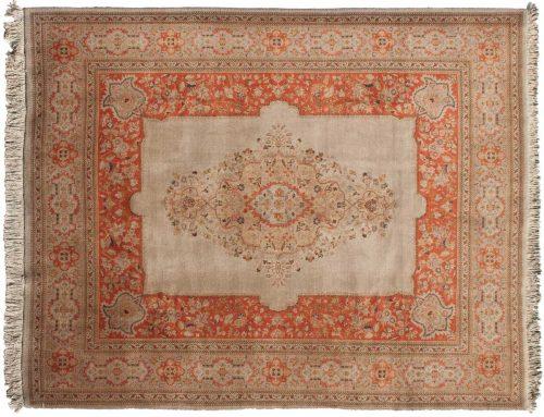 9×12 Persian Tabriz Rust Oriental Rug 022988