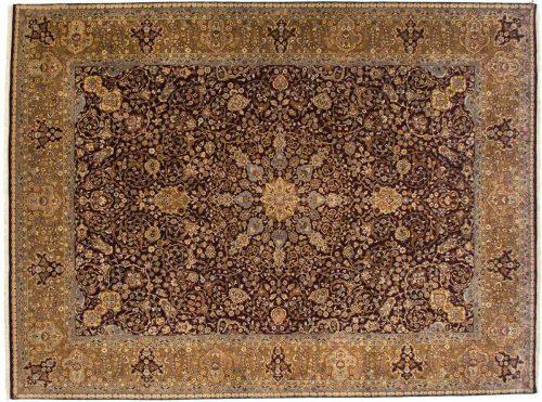 9×12 Kerman Brown Oriental Rug 021193