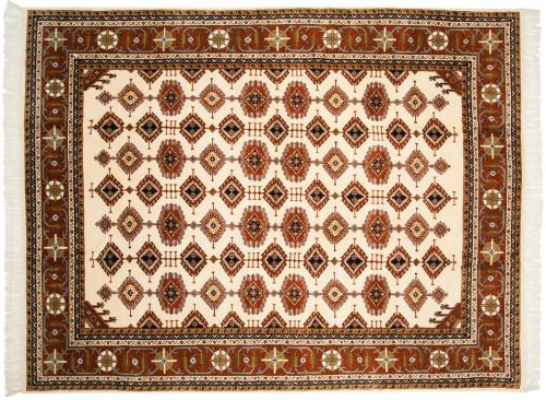 9×12 Salore Ivory Oriental Rug 014465