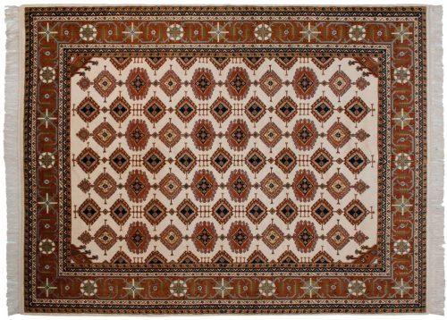 9×12 Salore Ivory Oriental Rug 014684