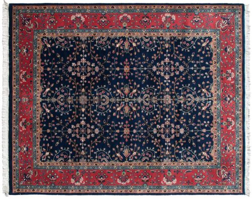 9×12 Sarouk Blue Oriental Rug 031207