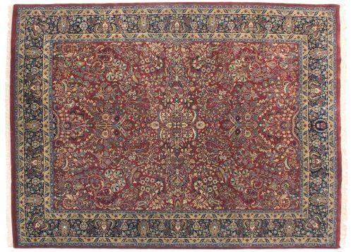 9×12 Sarouk Red Oriental Rug 038452