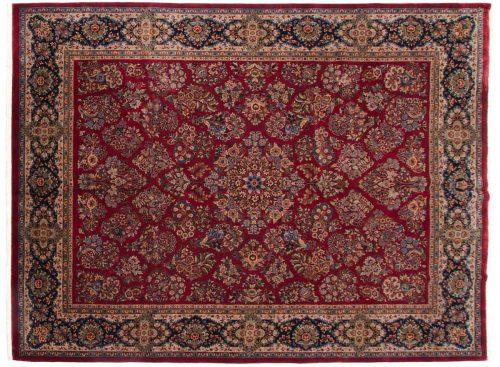 9×12 Sarouk Red Oriental Rug 040475