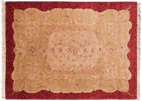 9×12 Savonnerie Ivory Oriental Rug 031320