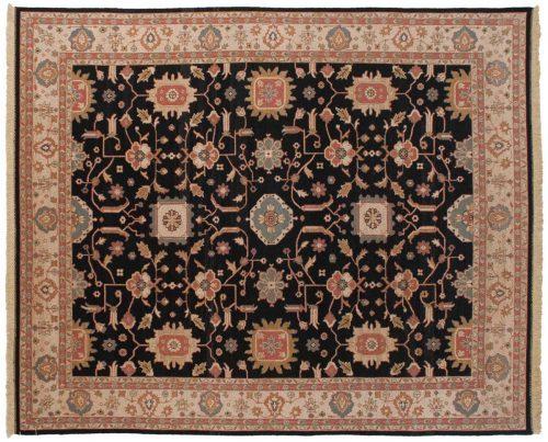 9×12 Sultanabad Black Oriental Rug 012888