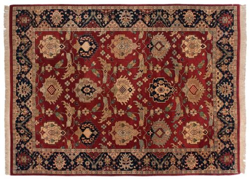 9×12 Sultanabad Burgundy Oriental Rug 031183