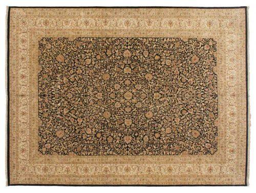 9×12 Tabriz Black Oriental Rug 043328