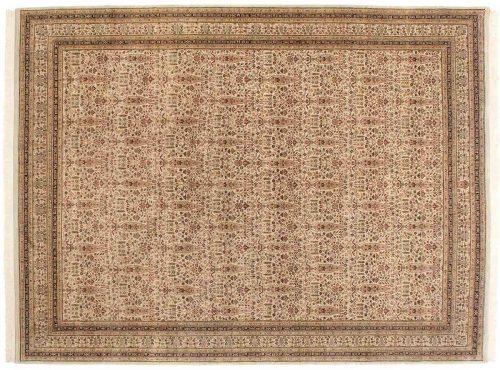 9×12 Tabriz Ivory Oriental Rug 039040