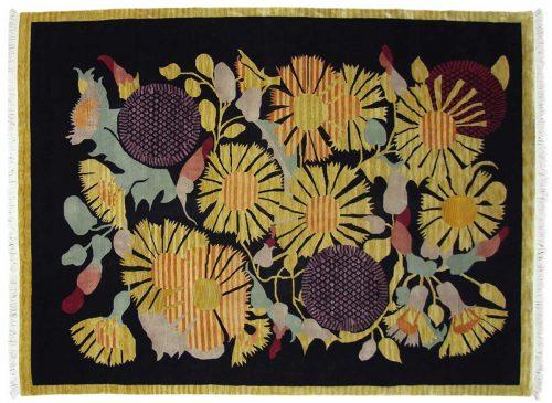 9×12 Tibetan Black Oriental Rug 016877