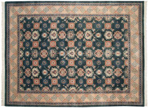 9×12 Tibetan Green Oriental Rug 016563