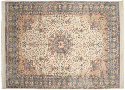9×13 Mashad Ivory Oriental Rug 016873