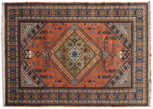 9×13 Persian Guba Rust Oriental Rug 035409