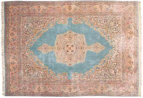 9×13 Persian Kerman Blue Oriental Rug 017624