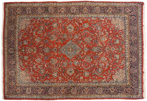 9×13 Persian Sarouk Red Oriental Rug 022951