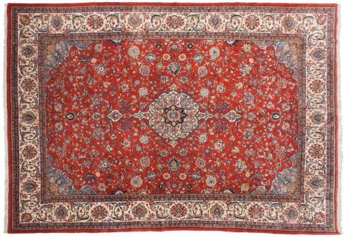 9×13 Persian Sarouk Red Oriental Rug 022954