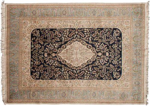 9×13 Persian Tabriz Blue Oriental Rug 035214