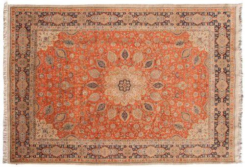 9×13 Persian Tabriz Rust Oriental Rug 035519