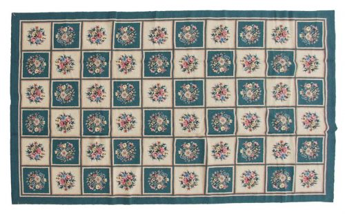 9×15 Block Ivory Oriental Large Rug 029228