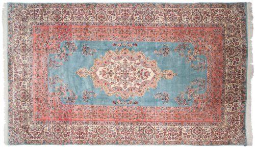 9×15 Persian Kerman Blue Oriental Large Rug 013617