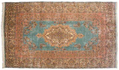 9×15 Persian Kerman Blue Oriental Large Rug 017396
