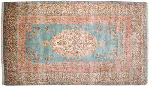 9×15 Persian Kerman Blue Oriental Large Rug 017618