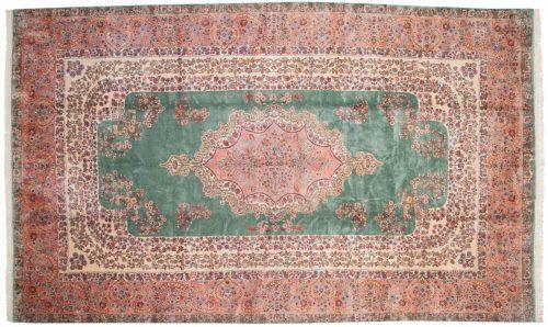9×15 Persian Kerman Green Oriental Large Rug 017573