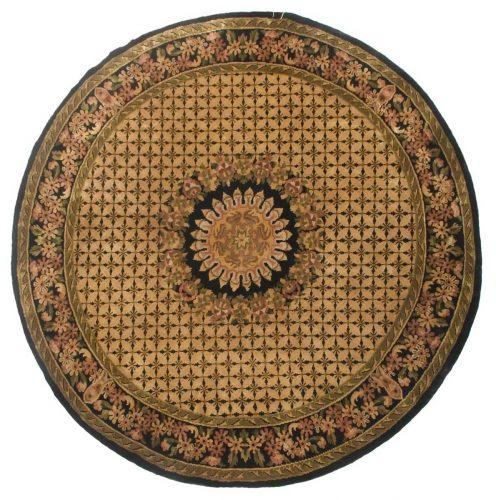 9×9 Aubusson Beige Oriental Round Rug 028113